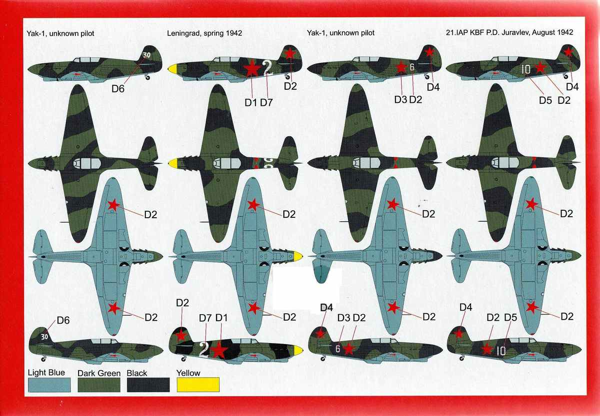 BrenGun-BRP-72020-Yak-1-1941-5 Yak-1 Year 1941 von Brengun im Maßstab 1:72 ( BRP72020 )