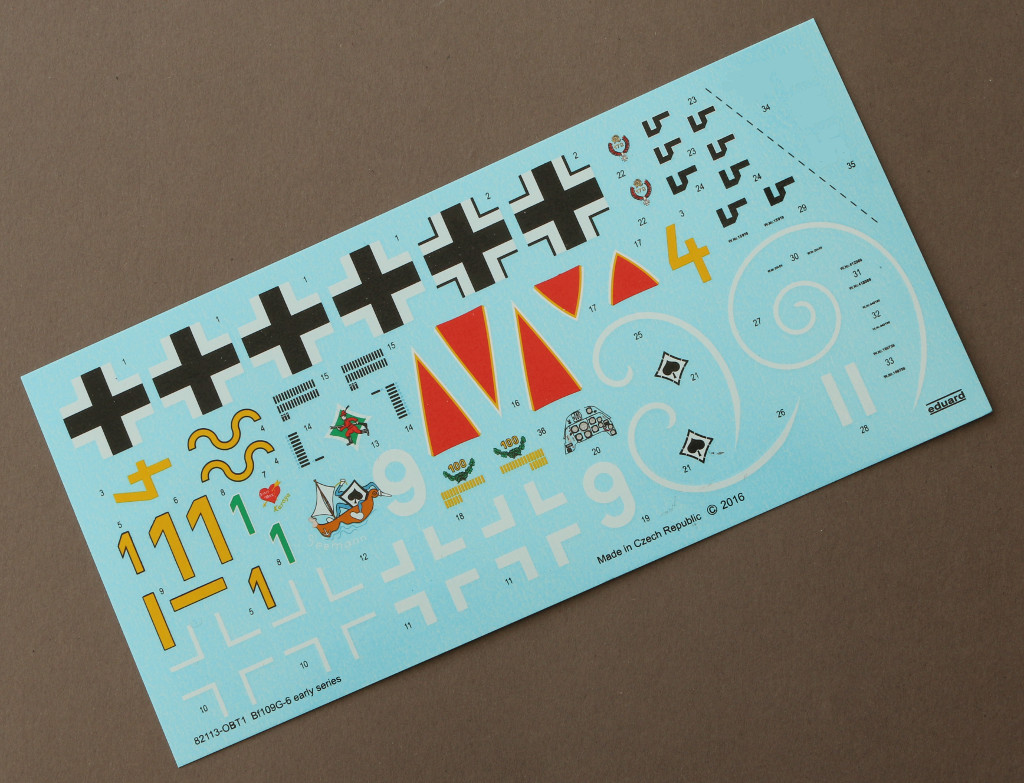 Decals Bf 109 G-6 early version Eduard 1:48 (82113)