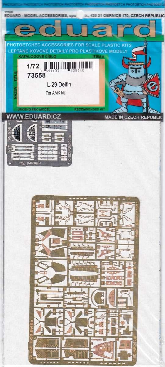 Eduard-73558-L-29-1 Eduard Zurüstsets für die L-29 Delfin von AMK im Maßstab 1:72