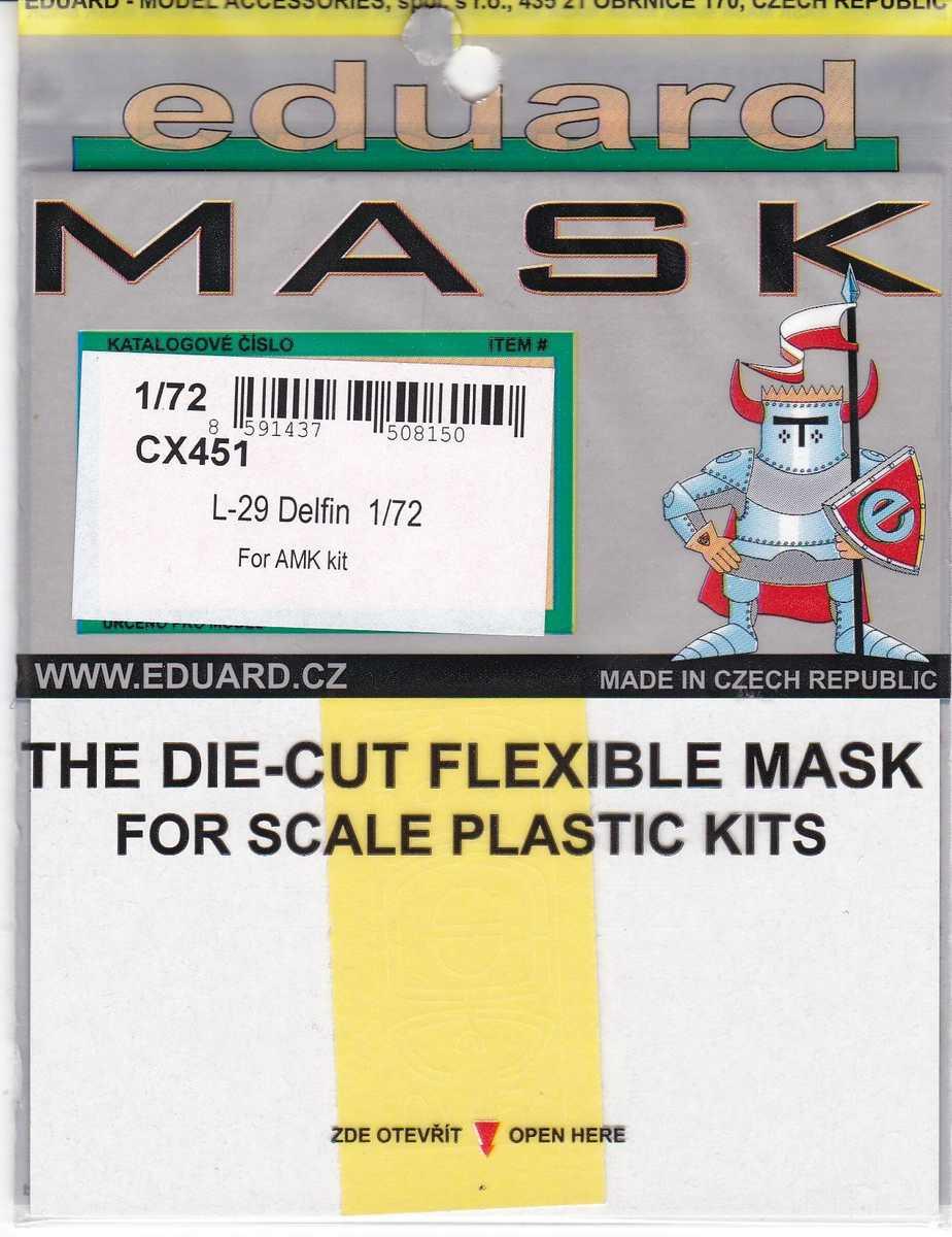 Eduard-CX-451-L-29-Masken-2 Eduard Zurüstsets für die L-29 Delfin von AMK im Maßstab 1:72