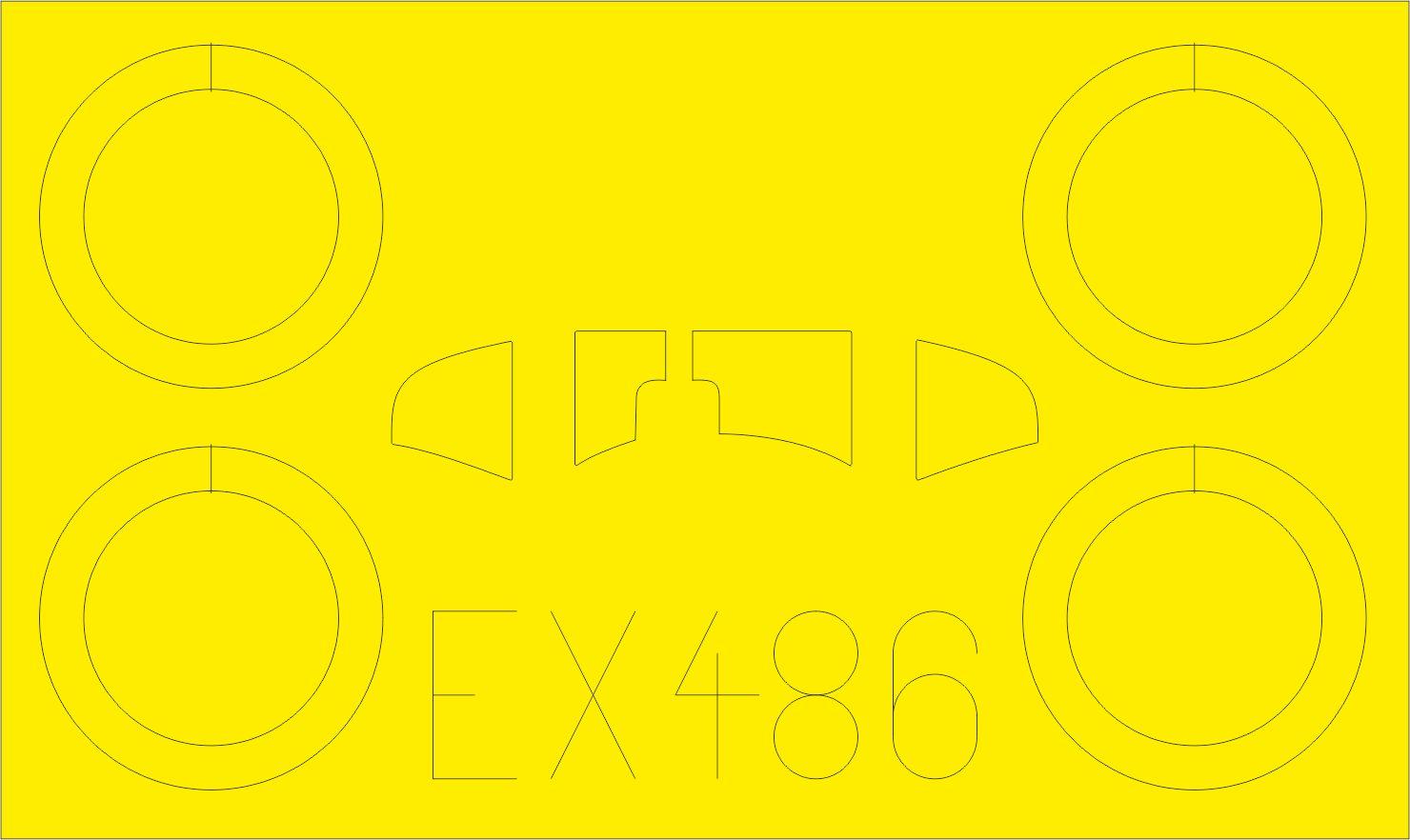 Eduard-EX-486-Heinkel-He-51-B.1-Masken-2 Eduard Zubehör für die Heinkel He 51 im Maßstab 1:48