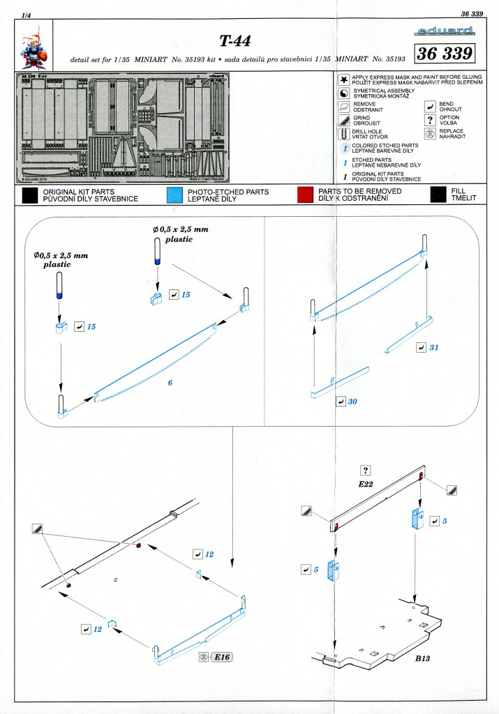Eduard_T-44_Upgradeset_02 Upgrade-Set für den T-44 von MiniArt - Eduard 1/35 --- #36339