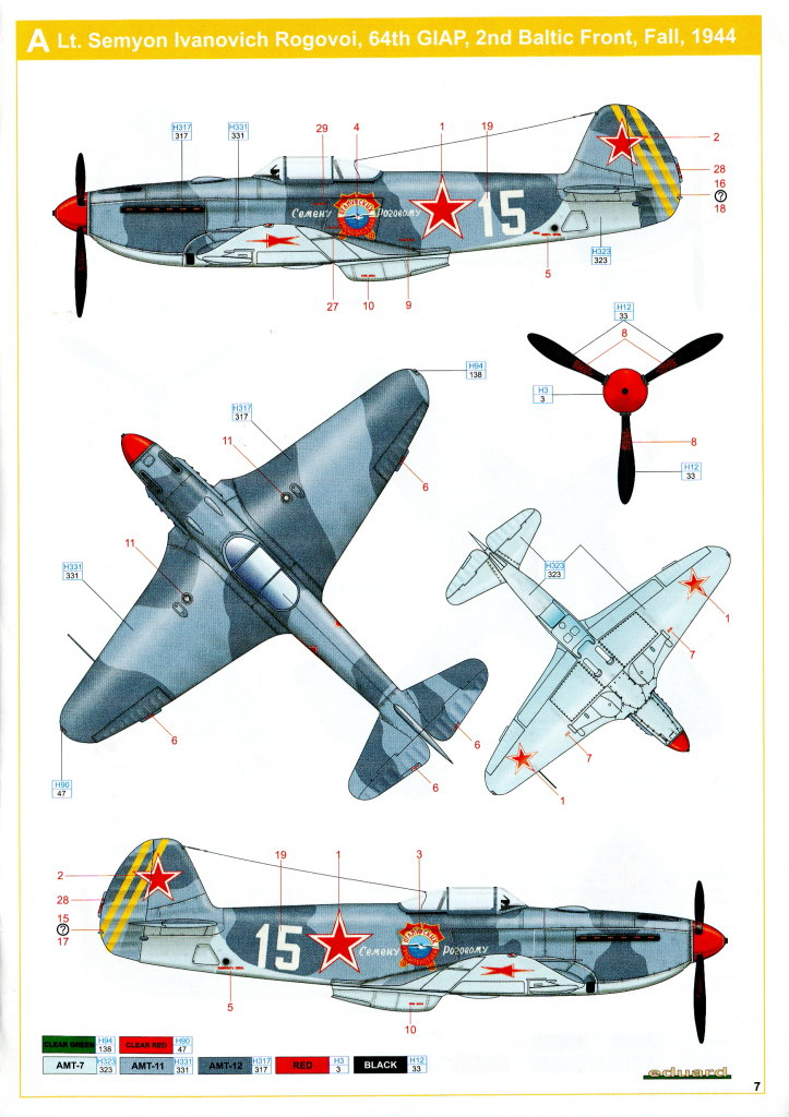 Eduard_Yak-3_WE_2016_19 Yak-3 - Eduard Weekend Edition 1/48 --- #8457