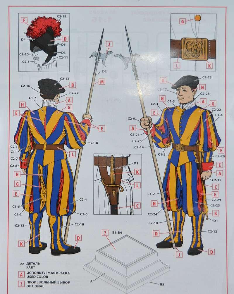 ICM-16002-Vatikan-Swiss-Guard-Bauplan Vatican Swiss Guard von ICM im Maßstab 1:16 (# 16002)
