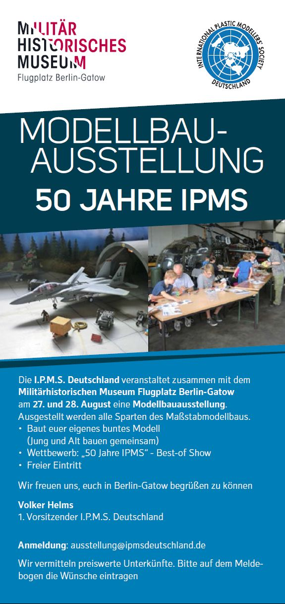 IPMS-Ausstellung-2016-1 Ausstellung der IPMS Deutschland Flugplatz Gatow 27./28. August