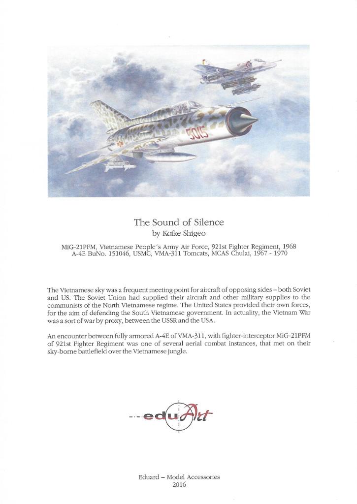 Infoblatt Sound of Silence ( MiG-21 und Skyhawk) 1:48 Eduard