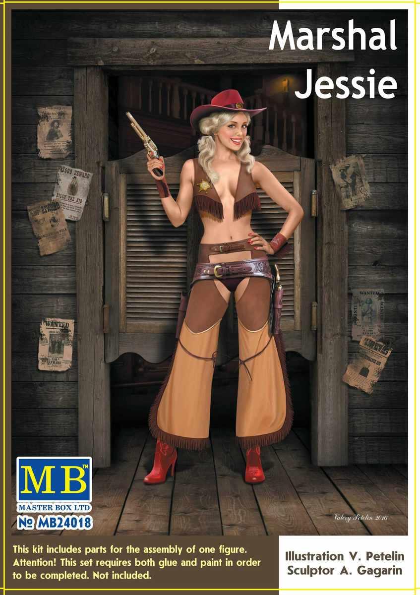 """MasterBox-24018-Marshall-Jessie-6 """"Marshall Jessie"""" und """"Thunder Spirit"""" von MasterBox ( 1:24)"""
