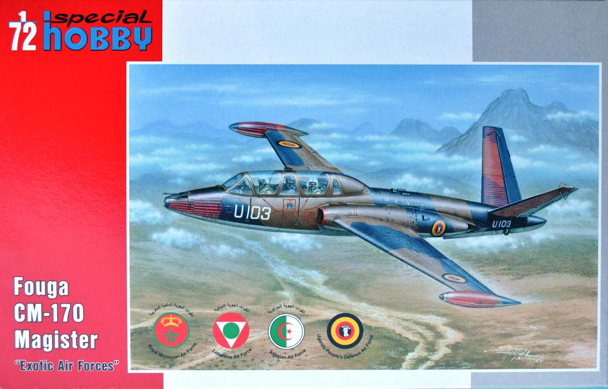"Special-Hobby-SH-72284-Fouga-Magister-Exotic-Air-Forces-1 Fouga Magister ""Exotic Air Forces"" in 1:72 von Special Hobby (SH 72284 )"