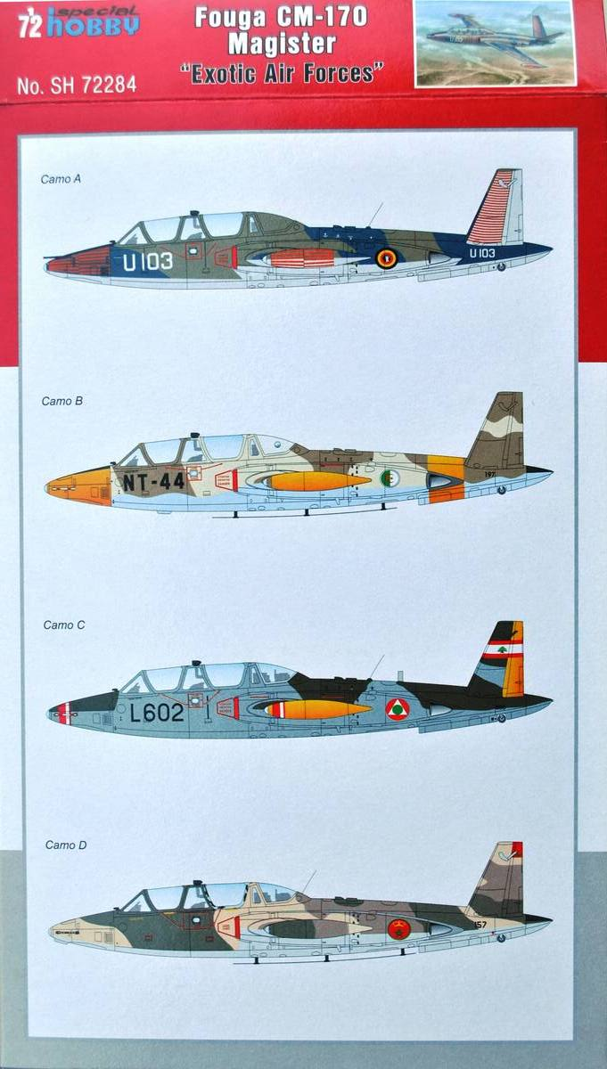 "Special-Hobby-SH-72284-Fouga-Magister-Exotic-Air-Forces-2 Fouga Magister ""Exotic Air Forces"" in 1:72 von Special Hobby (SH 72284 )"