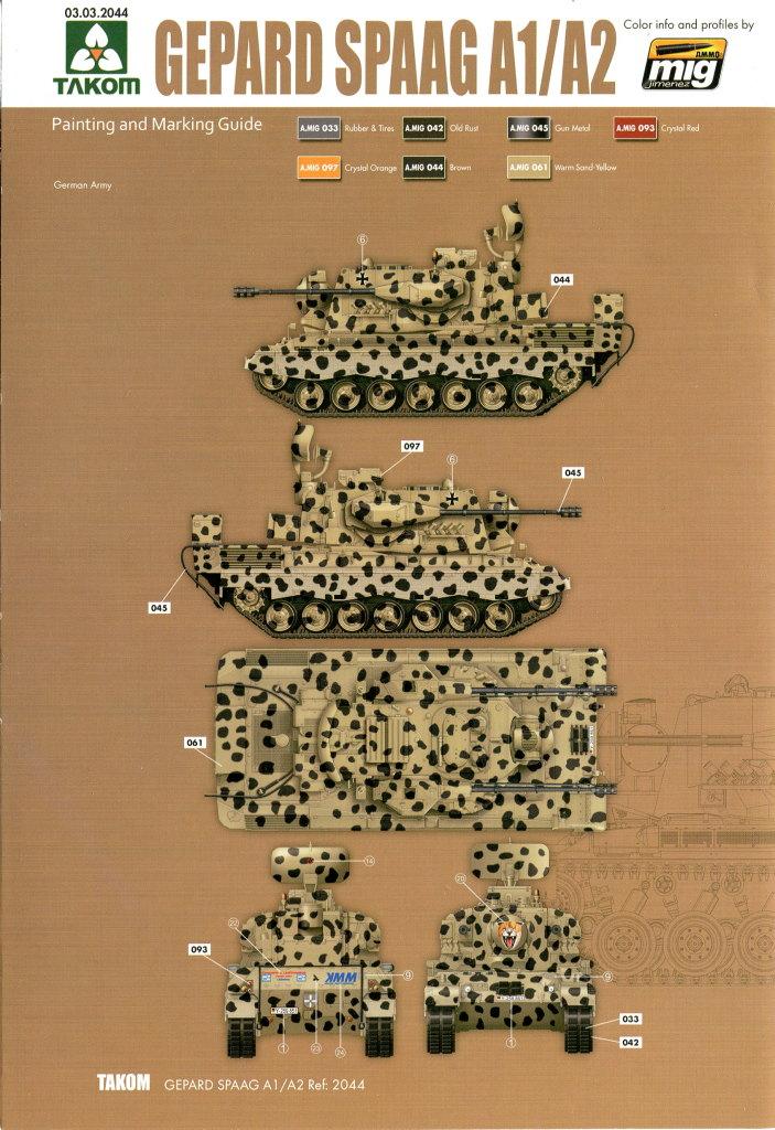 Takom_Gepard_67 Gepard A1/A2 - Takom 1/35 --- #2044