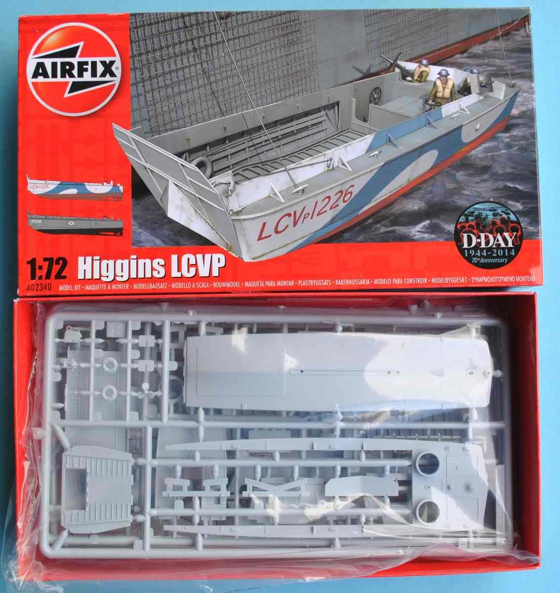 "Airfix-A02340-Higgins-LCVP-21 Das LCVP ""Higgins"" von Airfix im Maßstab 1:72 ( A02340 )"