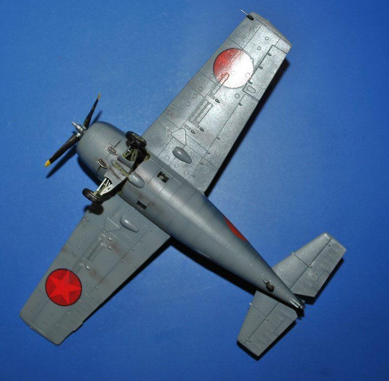 Airfix-Wildcat-Baubericht-Lackierung-fertig-3 F4F-4 von Airfix in 1:72 - der Baubericht