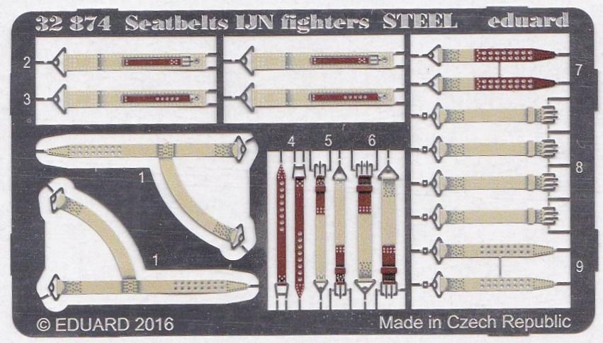 Eduard-32874-Seatbelts-IJN-Fighters-STEEL-2 Eduard Sitzgurte STEEL für die japanische Marineluftwaffe