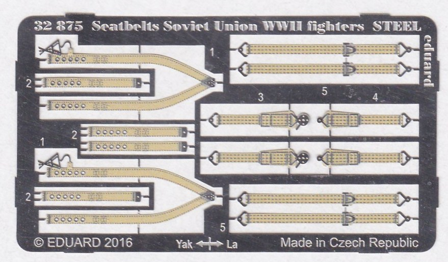 Eduard-32875-Soviet-Union-WW-II-Fighters-Seatbelts-STEEL-2 Eduard Seatbelts STEEL sowjetische Luftwaffe (diverse Maßstäbe)