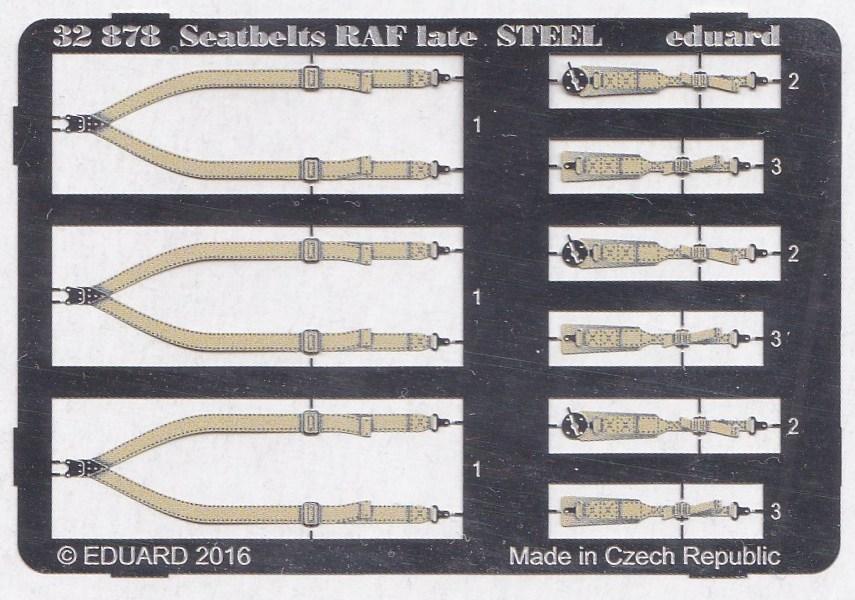 Eduard-32878-Seatbelts-RAF-Late-STEEL-1 Eduard Sitzgurte RAF und USAAF STEEL diverse Maßstäbe