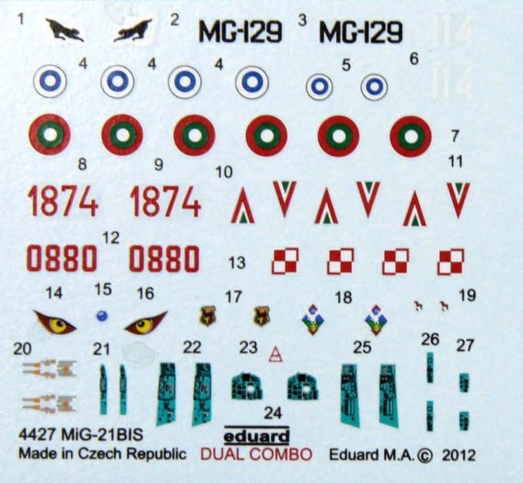 Eduard-4427-MiG-21bis-1zu144-1 Eine MiG-21bis im SmallScale 1:144 von Eduard