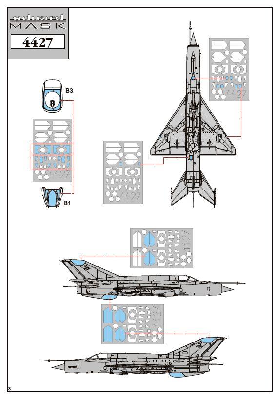 Eduard-4427-MiG-21bis-1zu144-18 Eine MiG-21bis im SmallScale 1:144 von Eduard