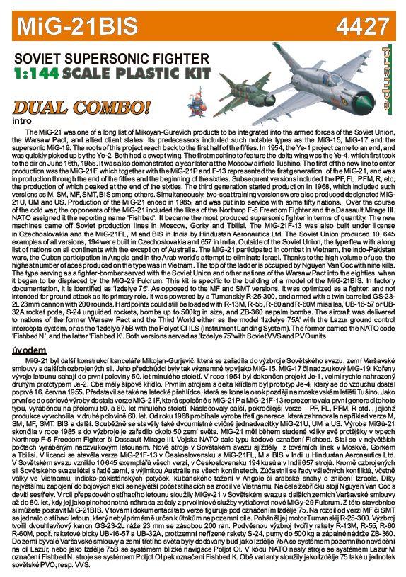 Eduard-4427-MiG-21bis-1zu144-23 Eine MiG-21bis im SmallScale 1:144 von Eduard