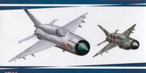 Eine MiG-21bis im SmallScale 1:144 von Eduard