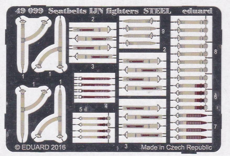 Eduard-49099-Seatbelts-IJN-Fighters-STEEL-1 Eduard Sitzgurte STEEL für die japanische Marineluftwaffe