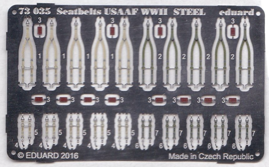 Eduard-73035-Seatbelts-USAAF-WW-II-STEEL-1 Eduard Sitzgurte RAF und USAAF STEEL diverse Maßstäbe