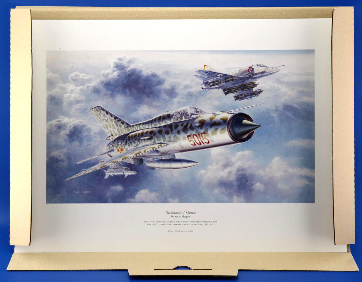 Eduard-The-Sound-of-silence-Kunstdruck Sound of Silence ( MiG-21 und Skyhawk) 1:48 Eduard