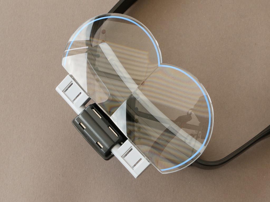 Glas-montiert Kopflupe (Magnifying Visor) von Tamiya
