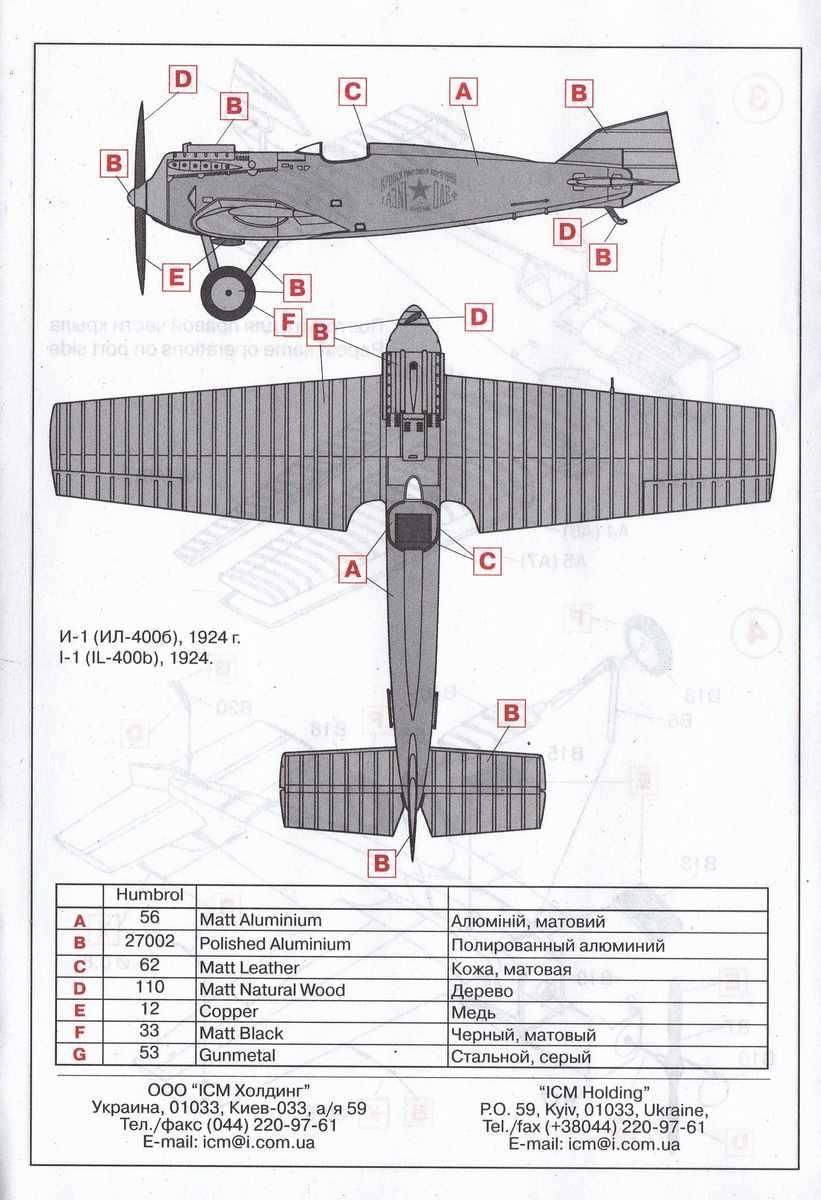 ICM-72051-I-1-IL-400b-21 Jagdflugzeug I-1 (IL-400b) von ICM im Maßstab 1:72 ( 72051 )