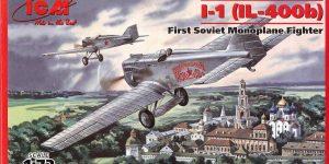Jagdflugzeug I-1 (IL-400b) von ICM im Maßstab 1:72 ( 72051 )