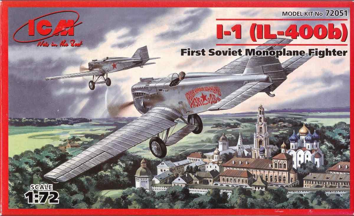 ICM-72051-I-1-IL-400b-25 Jagdflugzeug I-1 (IL-400b) von ICM im Maßstab 1:72 ( 72051 )