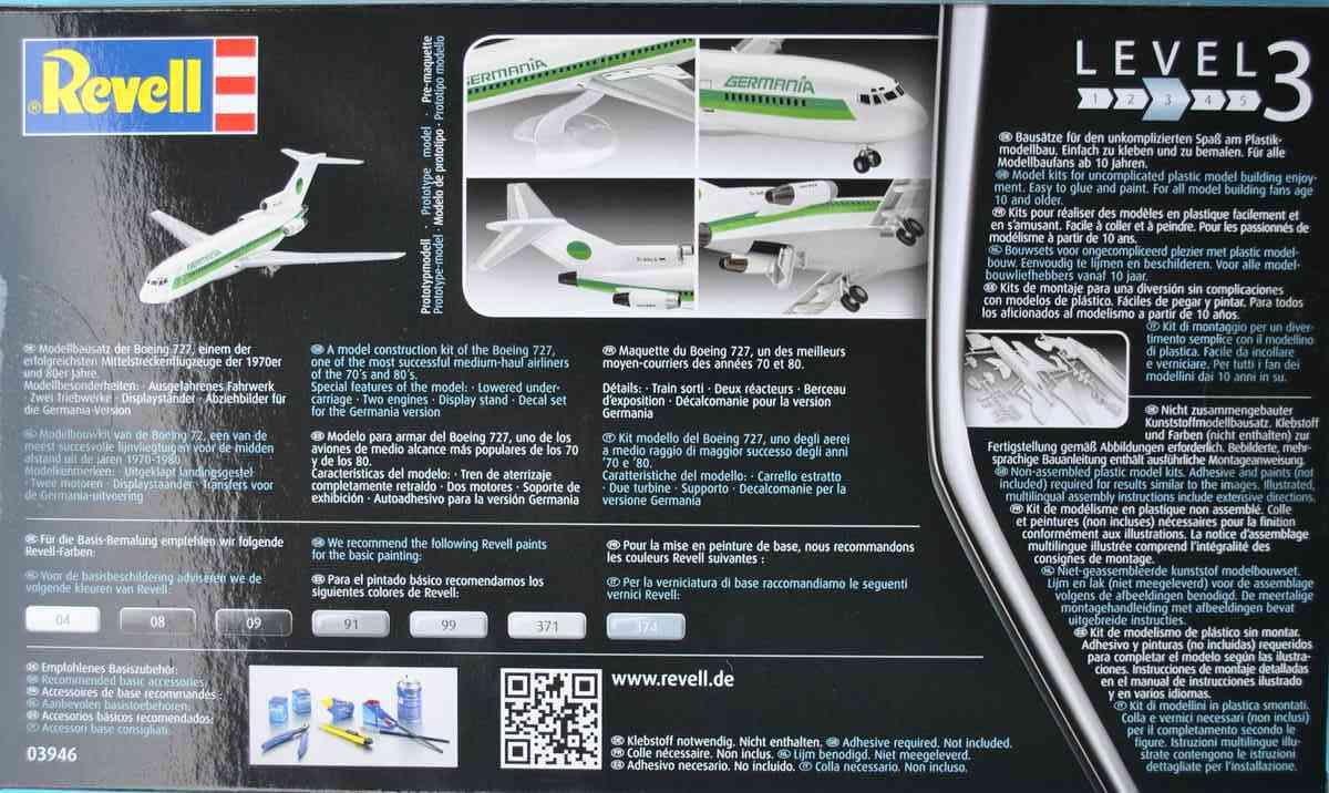Revell-03946-Boeing-727-100-11 27. November 1962: Rollout der Boeing 727