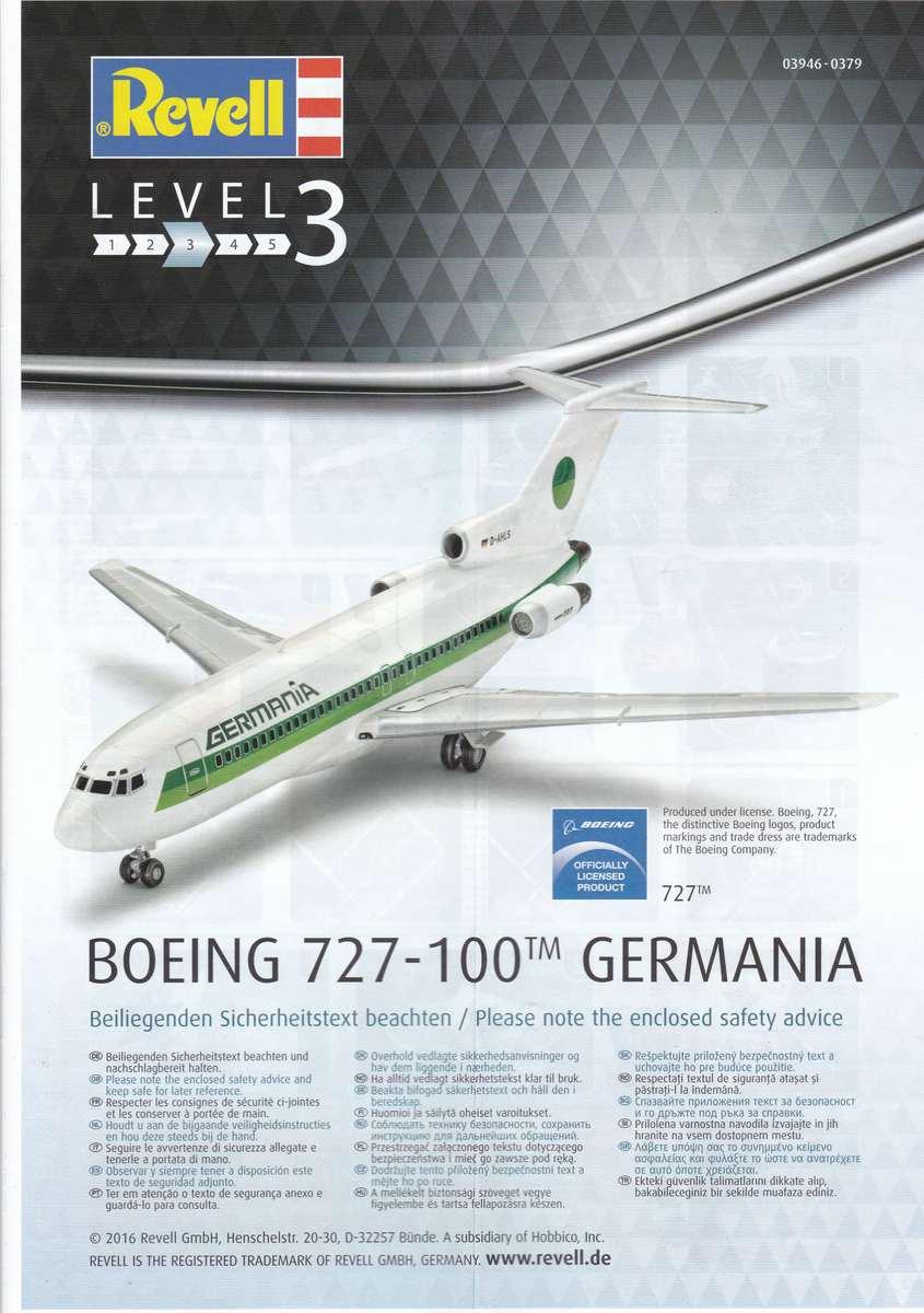 Revell-03946-Boeing-727-100-26 27. November 1962: Rollout der Boeing 727