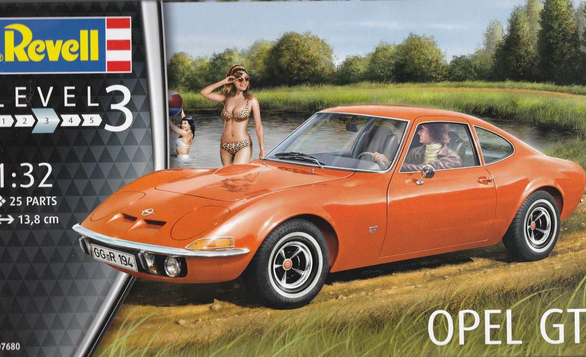 Revell-07680-Opel-GT-1 Opel GT von Revell 1:32 ( # 07680 )