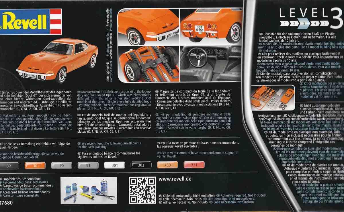 Revell-07680-Opel-GT-2 Opel GT von Revell 1:32 ( # 07680 )