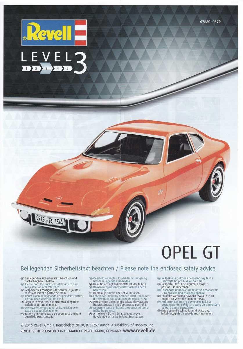 Revell-07680-Opel-GT-4 Opel GT von Revell 1:32 ( # 07680 )