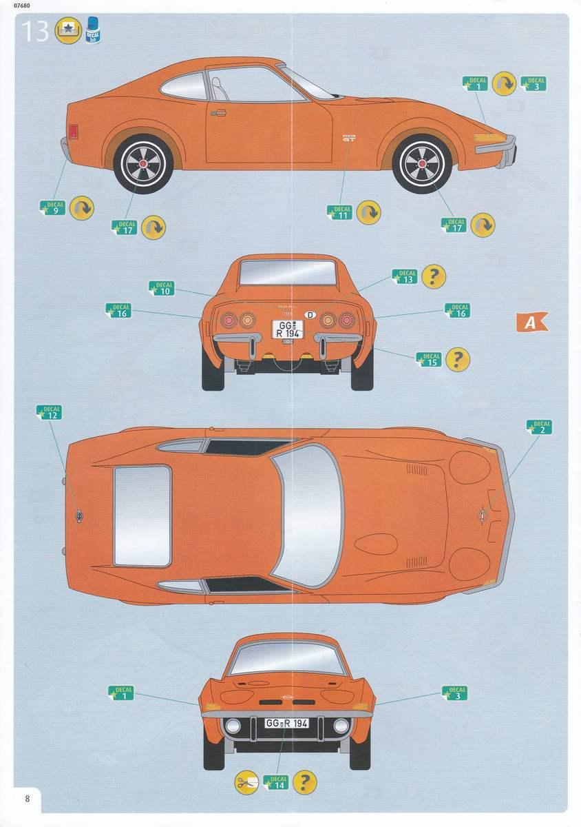 Revell-07680-Opel-GT-5 Opel GT von Revell 1:32 ( # 07680 )