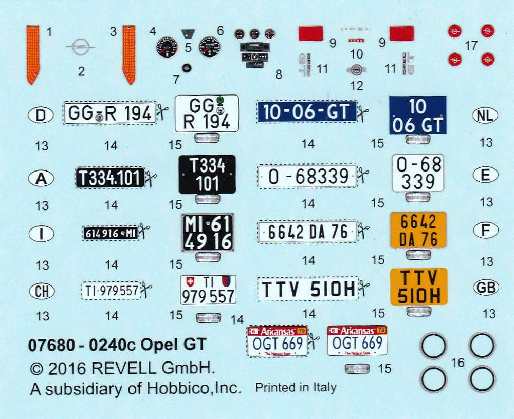 Revell-07680-Opel-GT-9 Opel GT von Revell 1:32 ( # 07680 )