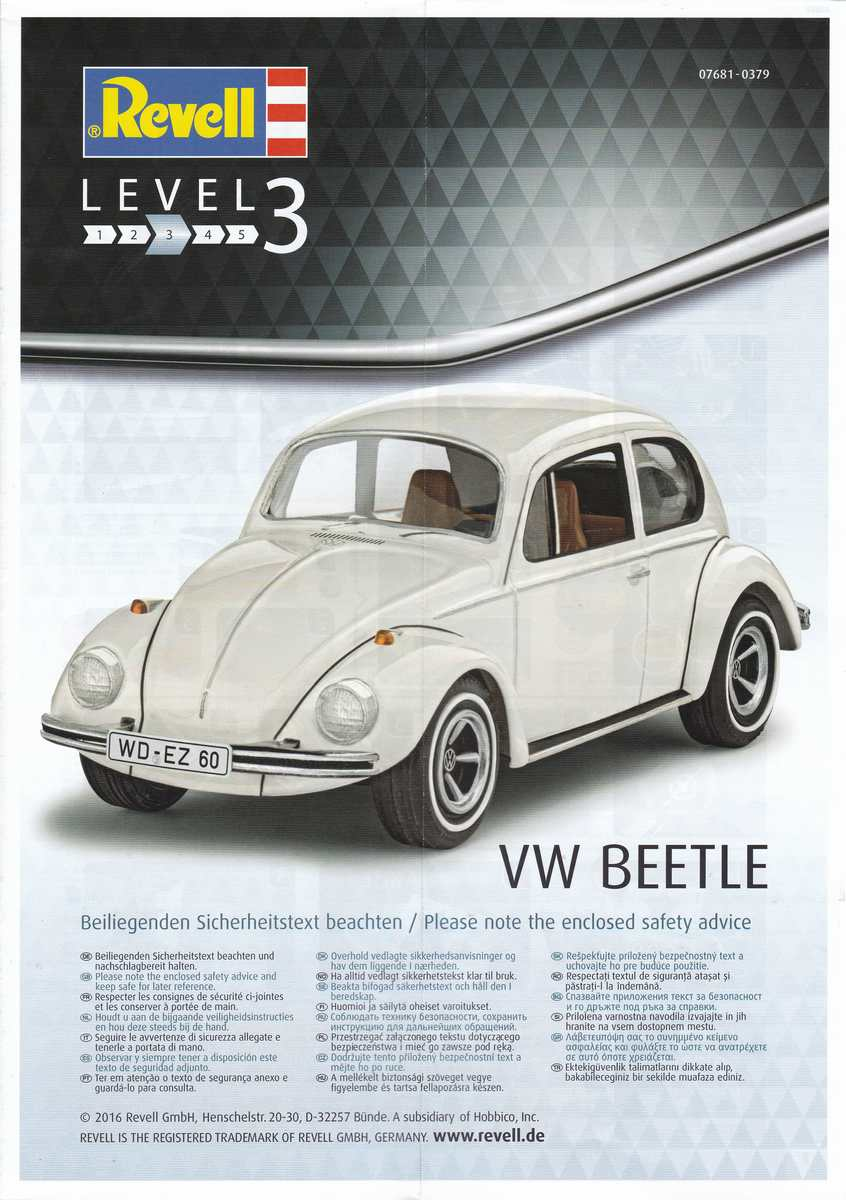 Revell-07681-VW-Beetle-2 VW Beetle von Revell in 1:32