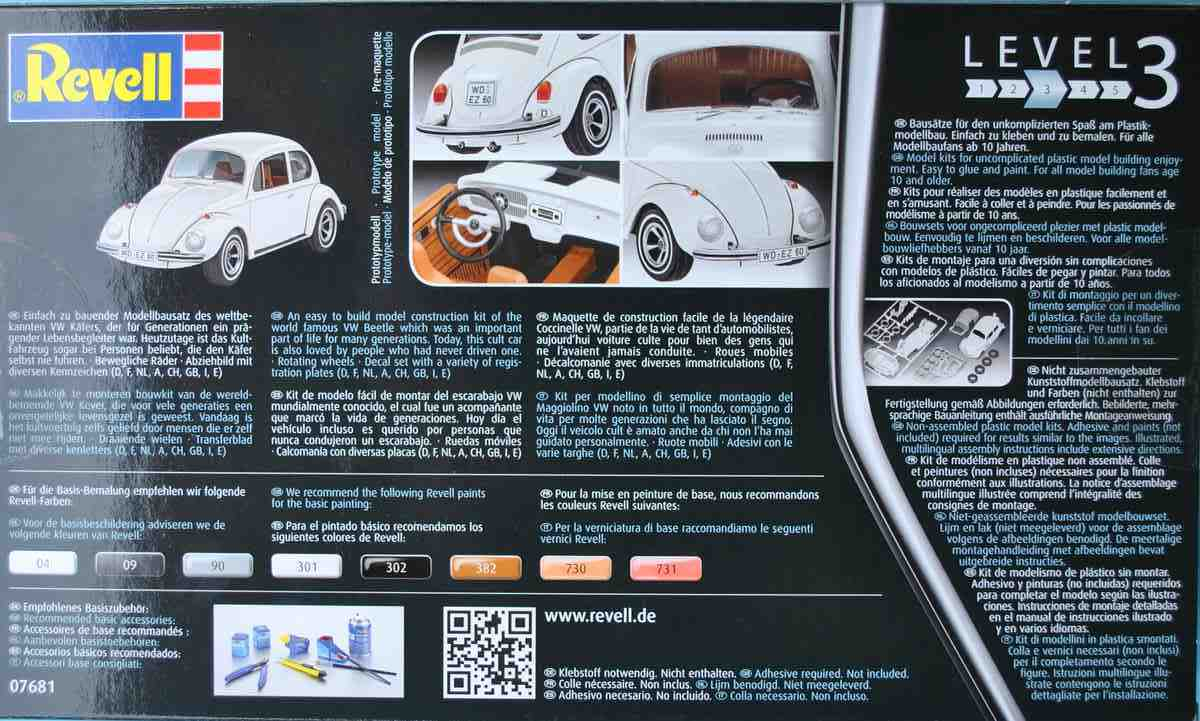 Revell-07681-VW-Beetle-8 VW Beetle von Revell in 1:32