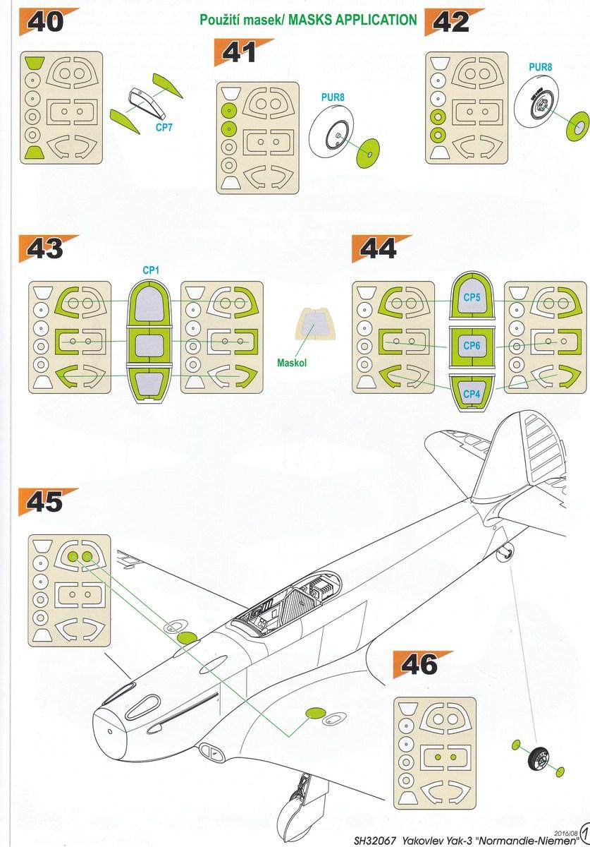 Special-Hobby-SH-32067-Yak-3-Normandie-Niemen-61 Yakovlev Yak-3 Normandie-Niemen von Special Hobby ( SH 32067 )