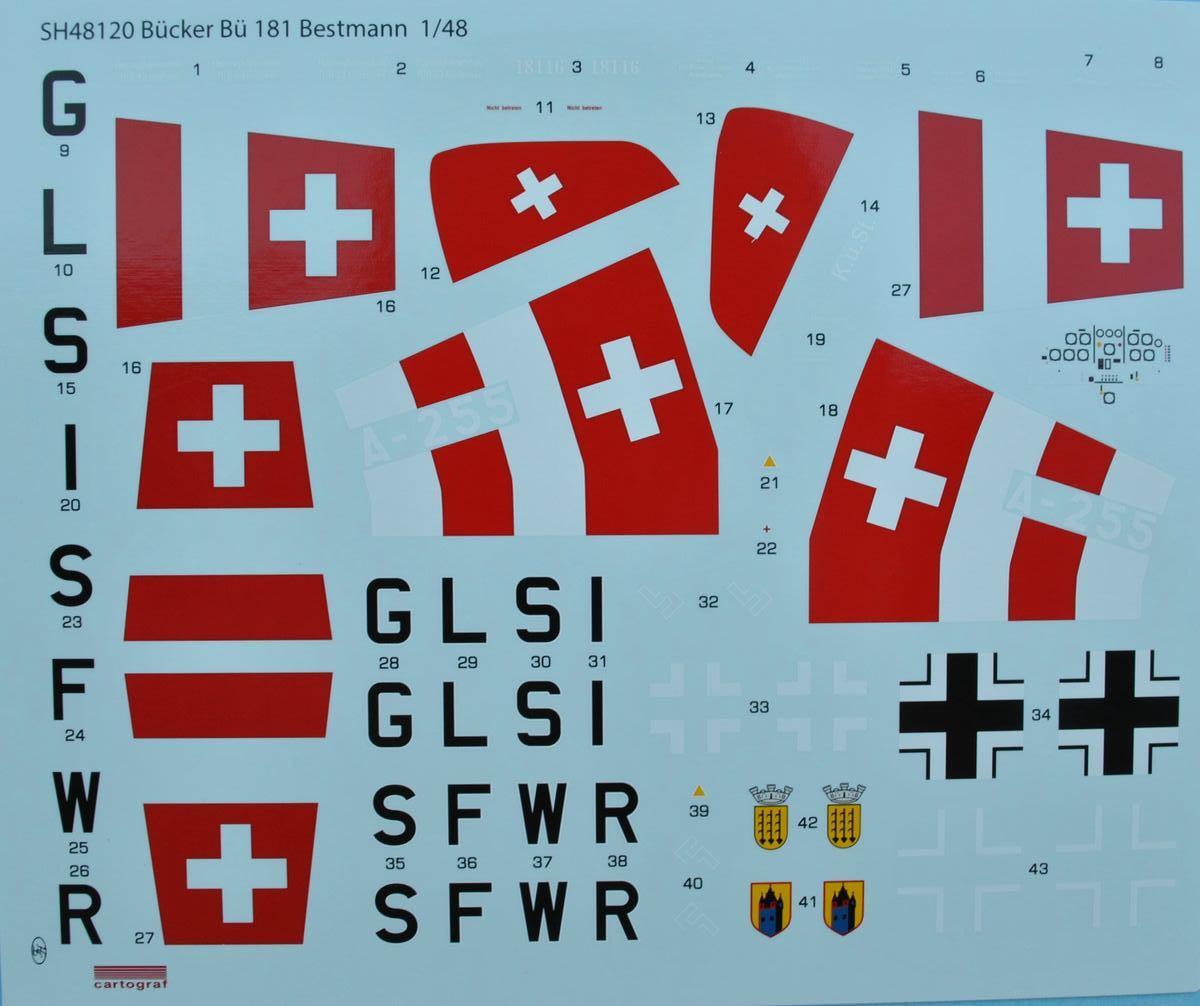 SpecialHobby-SH-48120-Bücker-Bü-181-Bestmann-26 Bücker Bü 181 Bestmann im Maßstab 1:48 Special Hobby SH 48120