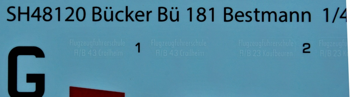 SpecialHobby-SH-48120-Bücker-Bü-181-Bestmann-30 Bücker Bü 181 Bestmann im Maßstab 1:48 Special Hobby SH 48120