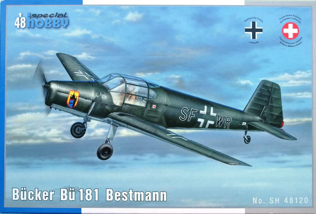 SpecialHobby-SH-48120-Bücker-Bü-181-Bestmann-37 Bücker Bü 181 Bestmann im Maßstab 1:48 Special Hobby SH 48120