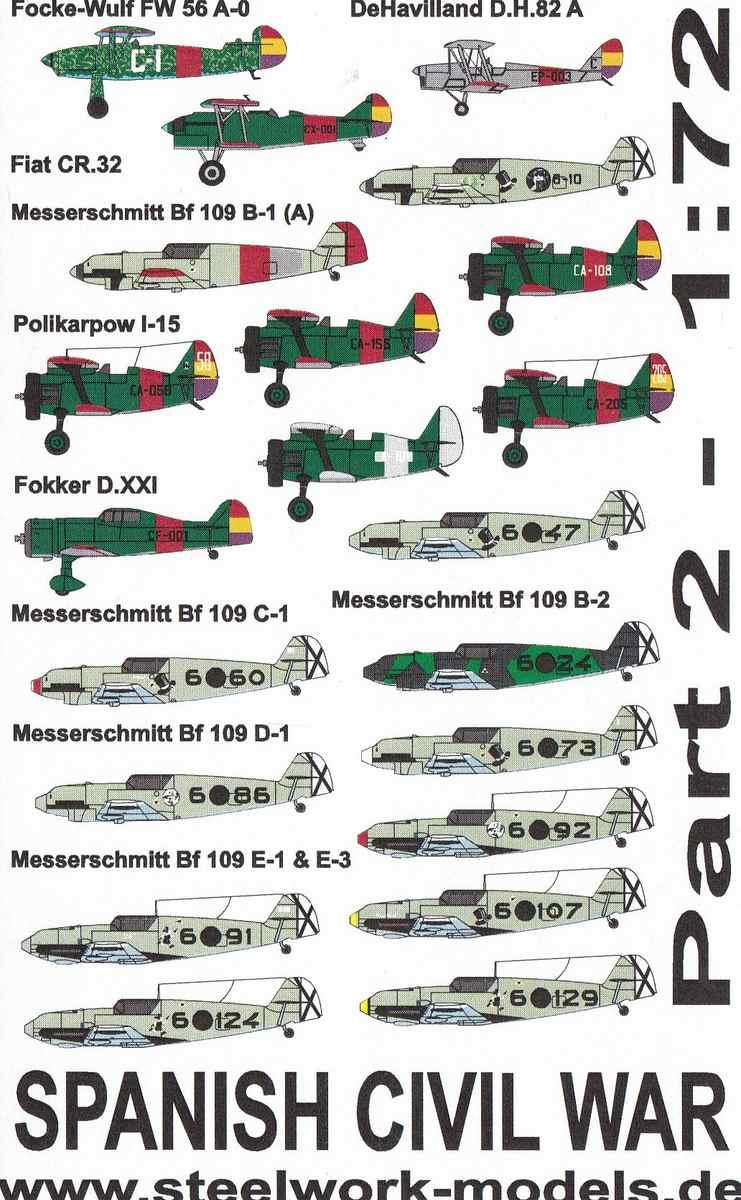 Steelwork-7203-decals-Spanish-Civil-War-Part-2-1 Decals Spanish Civil War Part 2 von Steelwork Models ( SD 7203 )