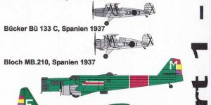 Decals Spanish Civil War Part 1 von Steelwork Models ( SD 7202 )