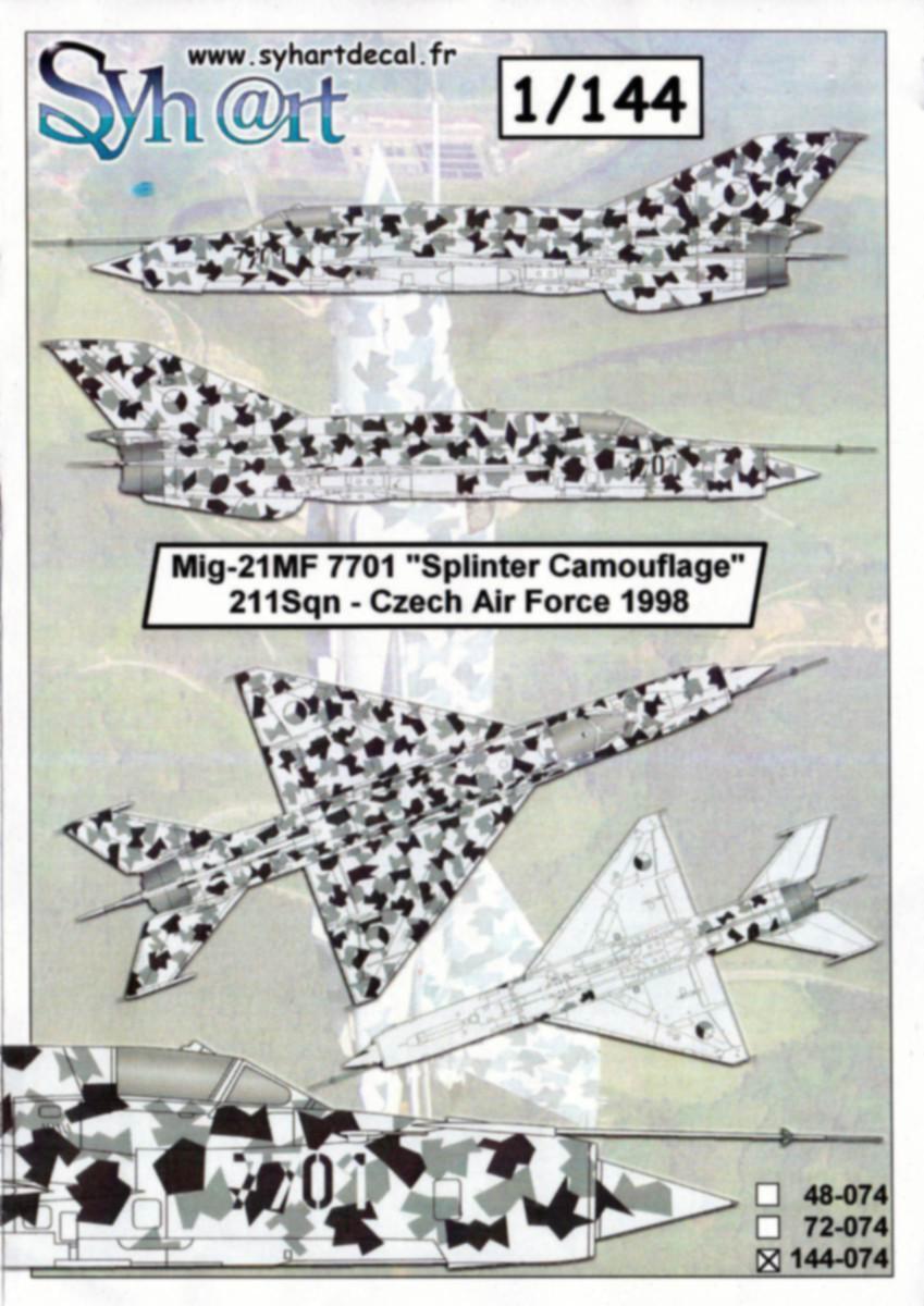 Syhart-144-074-MiG-21-Czech-Splinter-Camo-3 Decals MiG-21 Splinter Camo von Syhart 144-074