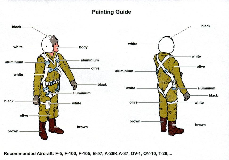 Aerobonus_USAF_Pilot_03 U.S.A.F. Fighter Pilot Vietnam War - aerobonus - 1/48 --- #480 085