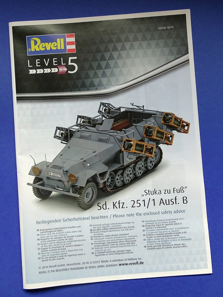"DSC04643-771x1024 Sd.Kfz.251/1 Ausf.B ""Stuka zu Fuß"". Revell 03248."
