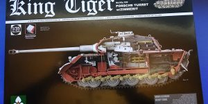 King Tiger Sd.Kfz.182 Porsche Turret with Zimmerit. Takom 2046.