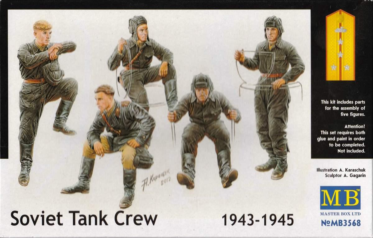 MasterBox-3568-Soviet-Tank-Crew-1943-3 Soviet Tank Crew 1943 - 1945 MasterBox # 3568